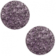 12 mm platte Polaris Elements cabochon Goldstein Grape purple