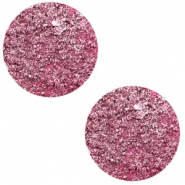 12 mm platte Polaris Elements cabochon Goldstein Magenta pink