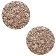 12 mm platte Polaris Elements cabochon Goldstein Taupe brown