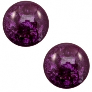 12 mm classic Polaris Elements cabochon Lively Dark purple