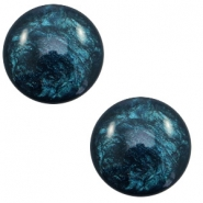 12 mm classic Polaris Elements cabochon Lively Petrol blue