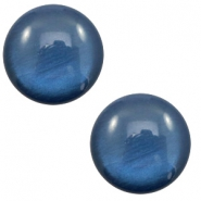 12 mm classic Polaris Elements cabochon soft tone shiny Dark blue