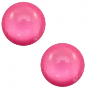 12 mm classic Polaris Elements cabochon soft tone shiny Magenta pink
