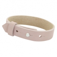 Armbanden Cuoio leer 15 mm voor 20 mm cabochon Rose taupe