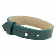 Armbanden Cuoio leer 15 mm voor 20 mm cabochon Forrest green