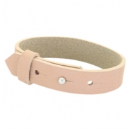 Armbanden Cuoio leer 15 mm voor 20 mm cabochon Blush pink