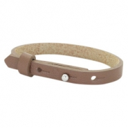 Cuoio armband voor kids 8mm voor 12mm cabochon Medium brown
