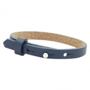 Cuoio armband voor kids 8mm voor 12mm cabochon Dark midnight blue