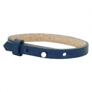 Cuoio armband voor kids 8mm voor 12mm cabochon Navy blue