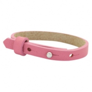Cuoio armband voor kids 8mm voor 12mm cabochon Peonia pink