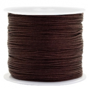 0.8mm Macramé draad Burgundy brown