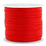 0.8mm Macramé draad Candy red
