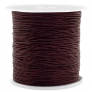 0.5mm Macramé draad Chocolate brown