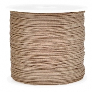 Draad macramé 0.8mm Light brown