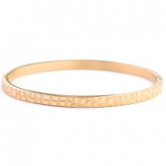 Armbanden van Stainless steel Roestvrij staal (RVS) crocodile Rose gold