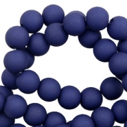 8 mm kralen van acryl matt Dark blue