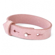 Armbanden Cuoio leer 15 mm voor 20 mm cabochon Soft misty rose