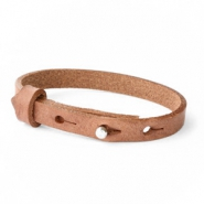 Cuoio armband voor kids 8mm voor 12mm cabochon Auburn brown