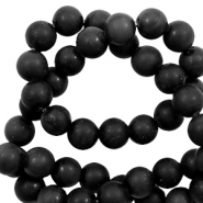 8 mm kralen natuursteen Black