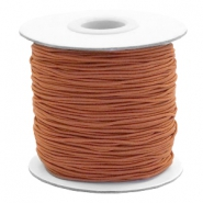Gekleurd elastiek 1mm Copper brown