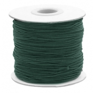 Gekleurd elastiek 1mm Dark green