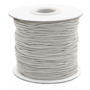 Gekleurd elastiek 1mm Light grey