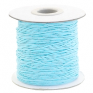 Gekleurd elastiek 1mm Light turquoise blue