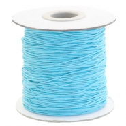 Gekleurd elastiek 1mm Sky blue