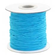 Gekleurd elastiek 1mm Aqua blue