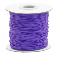 Gekleurd elastiek 1mm Imperial purple