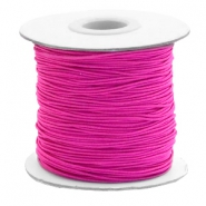 Gekleurd elastiek 1mm Cherry pink