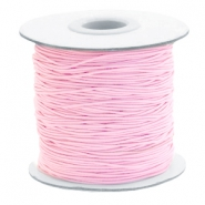 Gekleurd elastiek 1mm Light pink