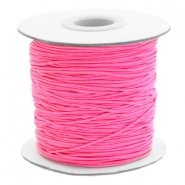 Gekleurd elastiek 1mm Fluor rose