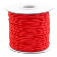 Gekleurd elastiek 1mm Red
