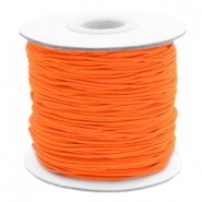 Gekleurd elastiek 1mm Fluor orange