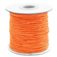 Gekleurd elastiek 1mm Vibrant orange