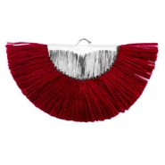 Kwastje hanger Silver-port red