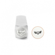 ImpressArt figuurstempels Heart with Wings 6mm Zilver