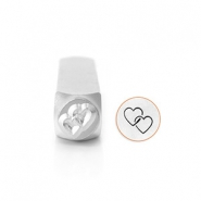 ImpressArt figuurstempels Interlocking Hearts 9.5mm Zilver