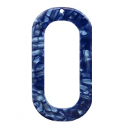 Hangers van resin langwerpig ovaal 56x30mm Dark blue