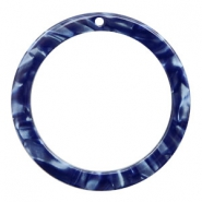 Hangers van resin rond 35mm Dark blue