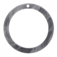 Hangers van resin rond 35mm Grey