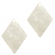Hangers van resin ruit 20x14mm Off white