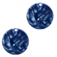 Hangers van resin rond 19mm Dark blue