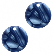 Hangers van resin rond 12mm Dark blue