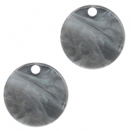 Hangers van resin rond 12mm Grey