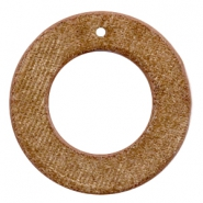 Hangers van velvet rond 43mm Golden brown