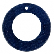 Hangers van velvet rond 43mm Dark blue