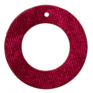 Hangers van velvet rond 43mm Port red
