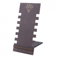 Sieraden display hout diamant Black